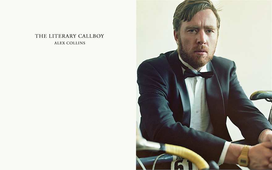 Alex Collins, alias The Literary Callboy, Photographed by Ryan Darcy, San Francisco, CA. All Images � 2013, All Rights Reserved.   Influences include Helmut Newton, Jeanloup Sieff, William Eggleston, Danny Lyon, David Douglas Duncan