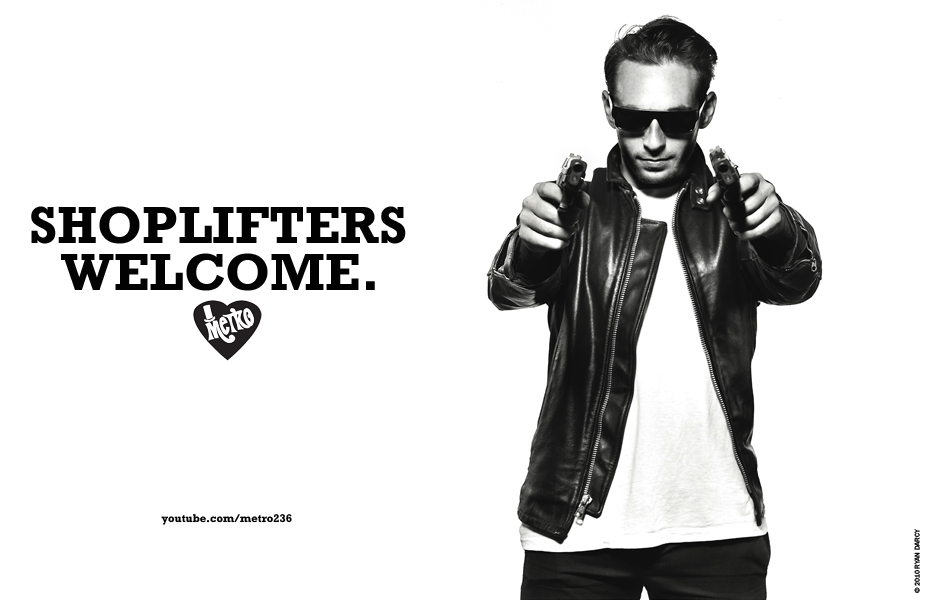 Matty Hunt in SHOPLIFTERS WELCOME, print campaign for METRO. Art directed, produced, styled, and photographed by Ryan Darcy. All Images © 2011, All Rights Reserved. Influences include Helmut Newton, Jeanloup Sieff, William Eggleston, Danny Lyon, David Douglas Duncan